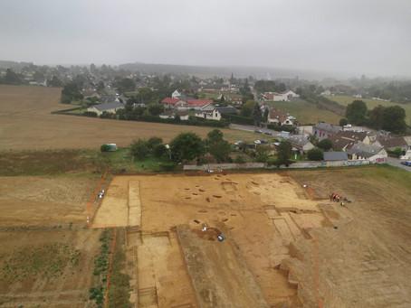 Chantier archéologique, Arnières-sur-Iton, phase 1