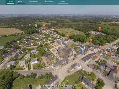 Comment une commune utilise un panoramique 360° par drone...