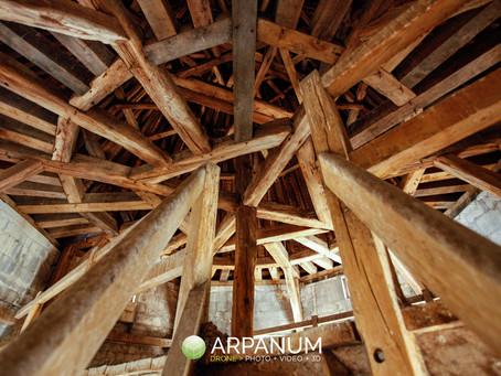 Les toits de l'Abbaye aux Dames (Caen)