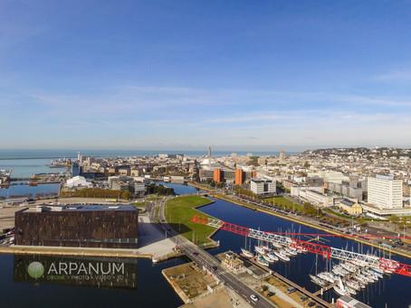 Le port du Havre en drone à 360°