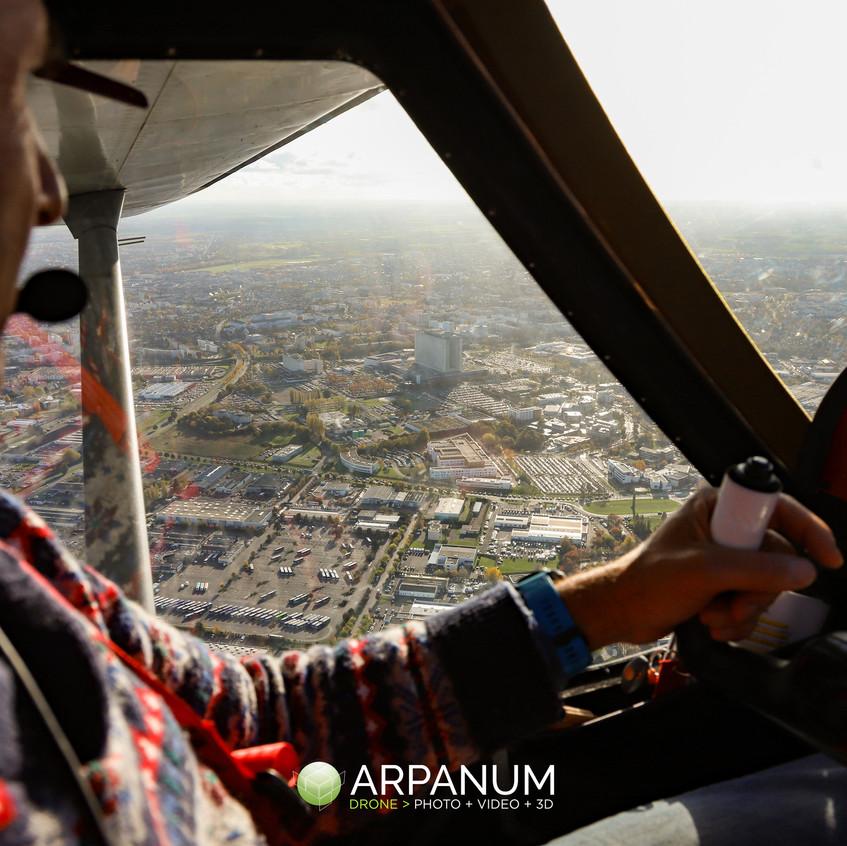 Caen vue d'ULM - Arpanum