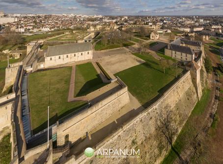 Entre le château et l'université de Caen...
