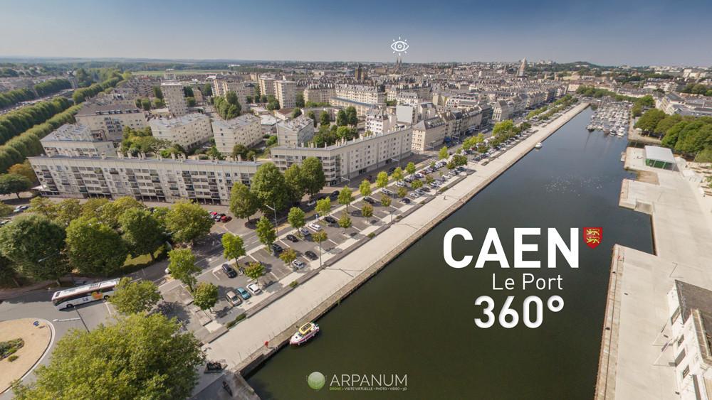 Le port de Caen à 360°