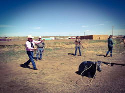 Roping After Church