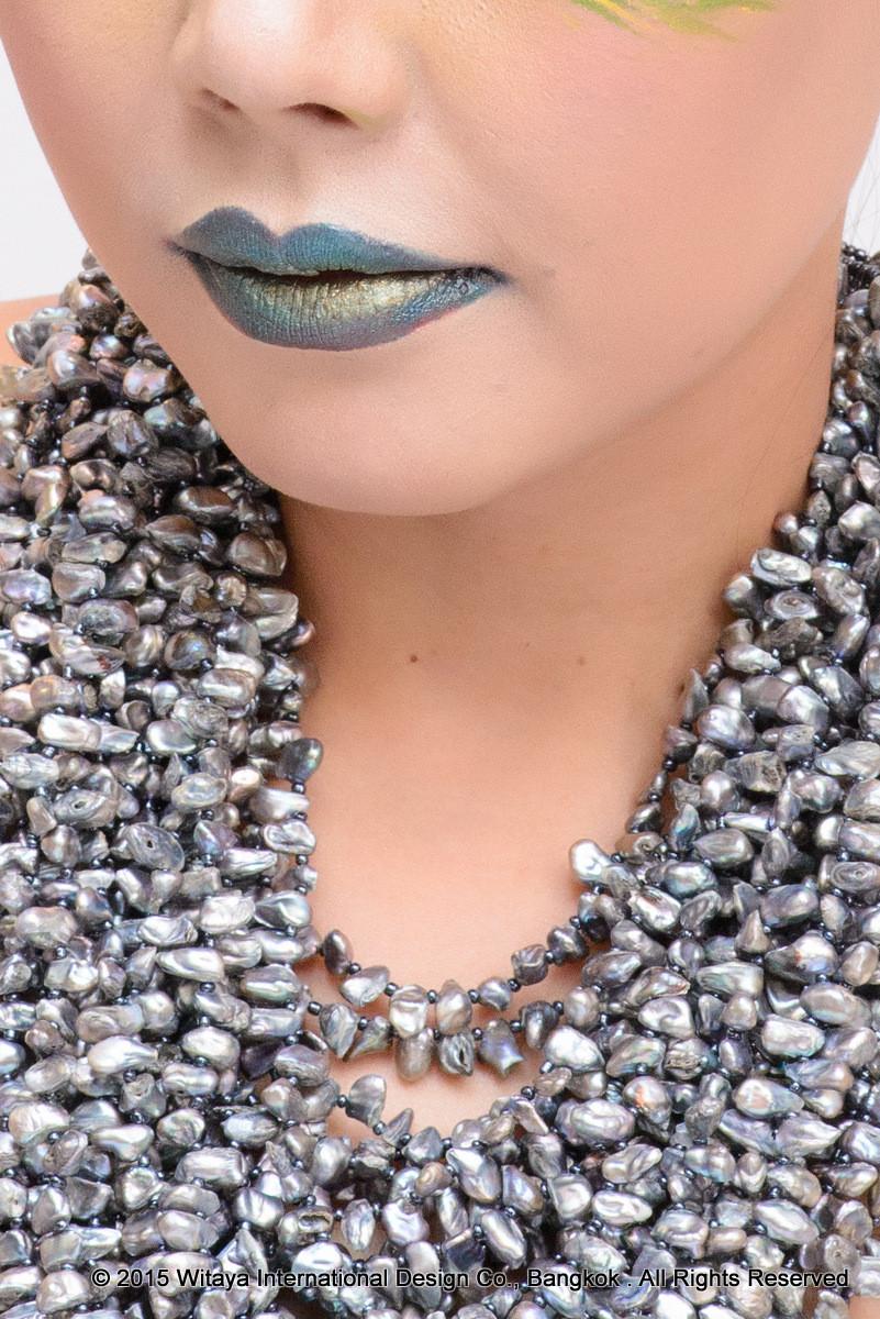 Witaya's Grey Waterfall Necklace