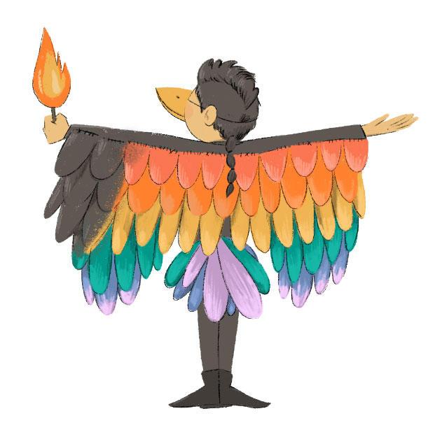 R - Rainbow Crow (Lenape)