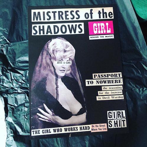 'Mistress of the shadows' A3 print
