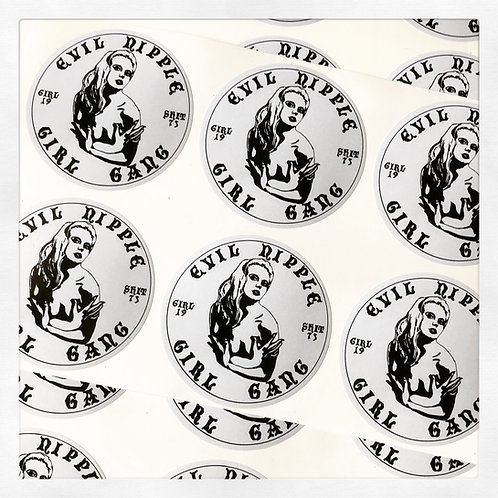 EVIL NIPPLE GIRL GANG Vinyl stickers