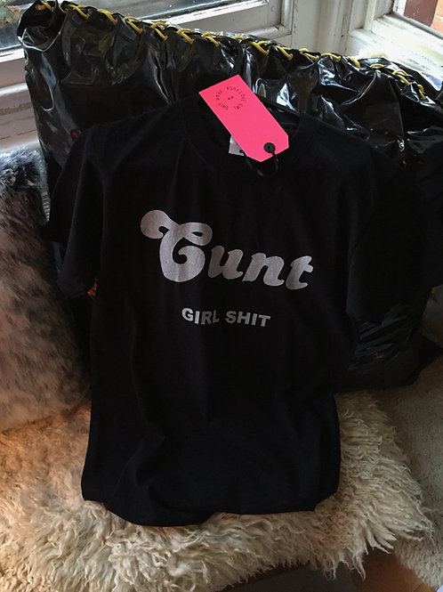 'CUNT' T-SHIRT(MEDIUM-BLACK)