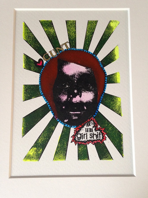 'LOVE CUNT' Gocco Print 23x18cm approx