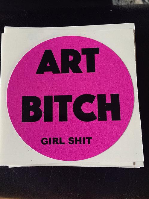 ART BITCH vinyl sticker