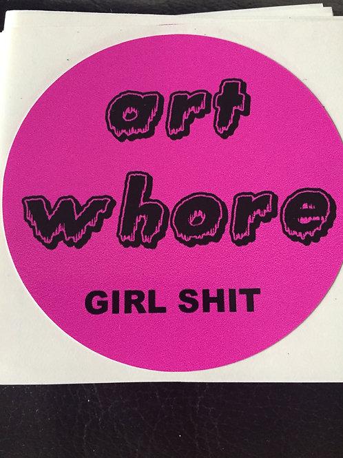 ART WHORE vinyl sticker