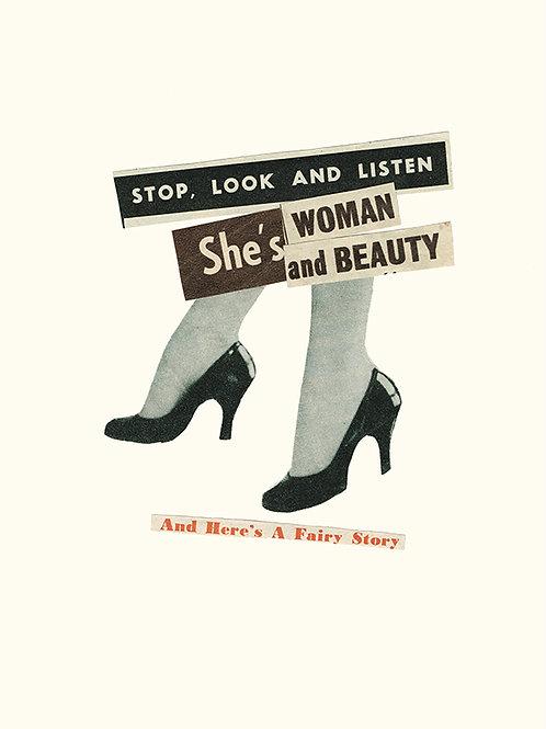 'STOP LOOK & LISTEN' A4 Giclee Print
