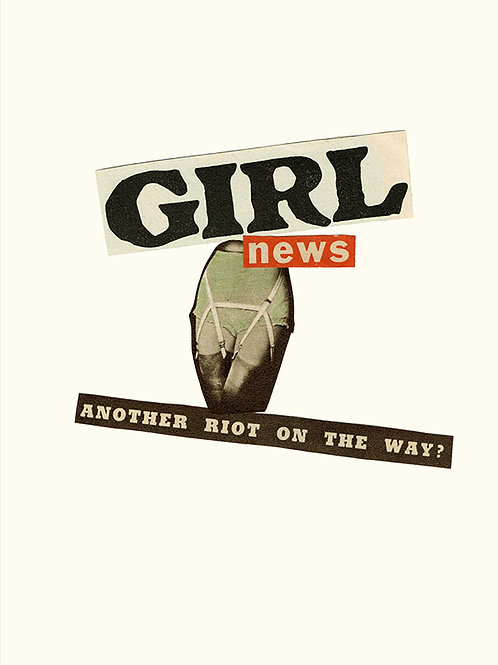 'GIRL NEWS' A4 Giclee Print
