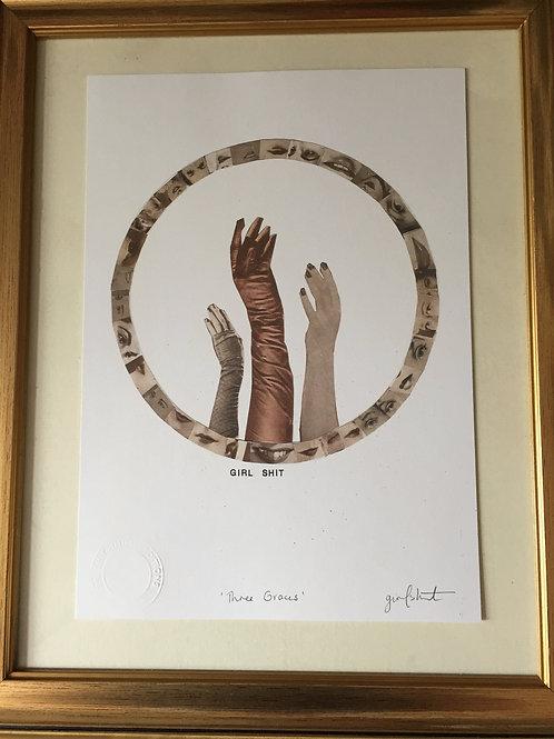 'THREE GRACES' A4 ART PRINT