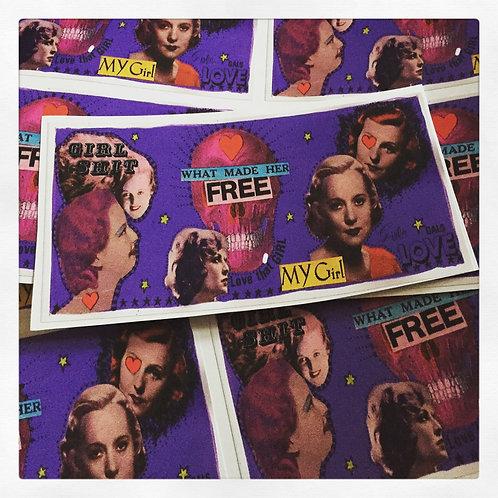 WHAT MADE HER FREE (vinyl sticker)