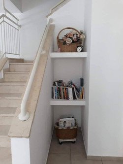 Indoor stairs to the second floor