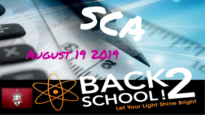 SCA BACK TO SCHOOL
