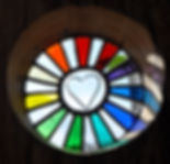 Louise V Durham / stained glass / Love Shines Through 2