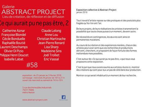 Ce qui aurait pu ne pas être, 2 - exposition collective à Abstract Project