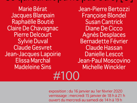 """Exposition collective """"Ce qui aurait pu ne pas être, [3]"""", du 16 janvier au 1er février 2020"""
