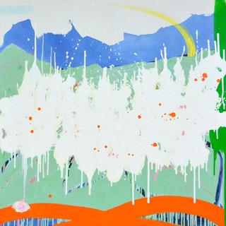 Bloom VII 2015 acrylique sur toile 100x1