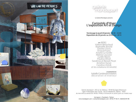 Curiosités d'Hiver exposition du 25/01 au 23/02 Galerie Mondapart