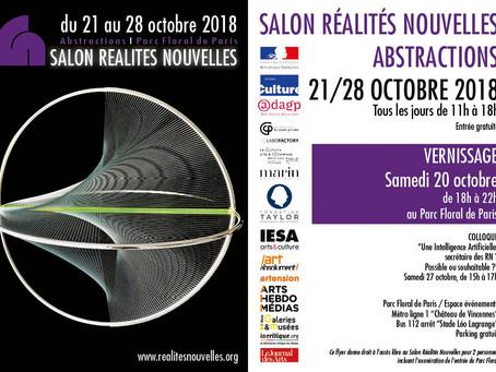 Salon Réalités Nouvelles, Abstractions - du 21 au 28 Octobre 2018