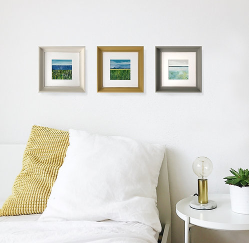 Framed Original Acrylic Paintings | Triptych