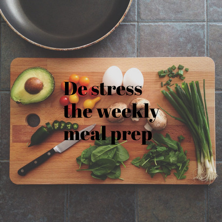 How To 'de' Stress Your Weekly Menu