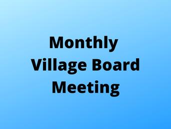 Village Board Meeting: May 4
