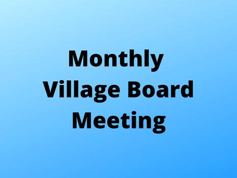 August Village Board Meeting