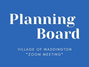 Planning Board Meeting: Jan 14, 6pm