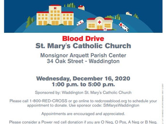 Blood Drive - St. Mary's Catholic Church