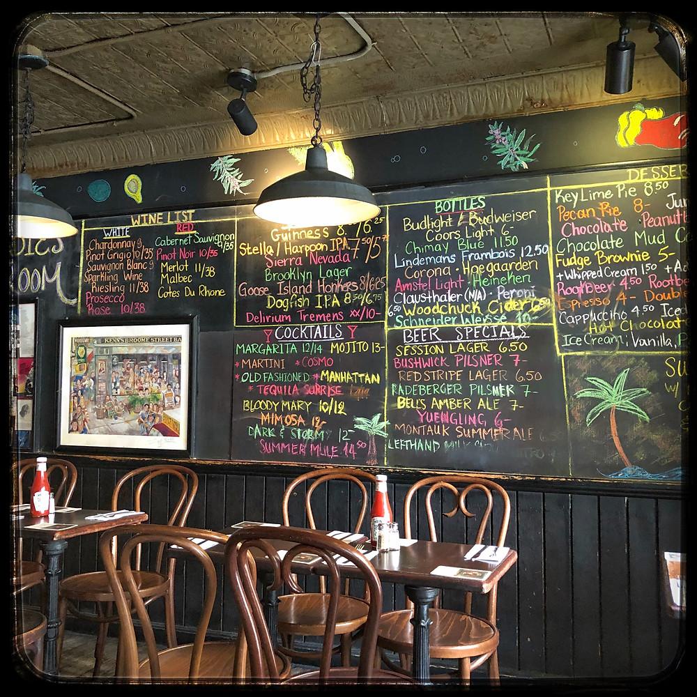 Broome Street Bar Menu