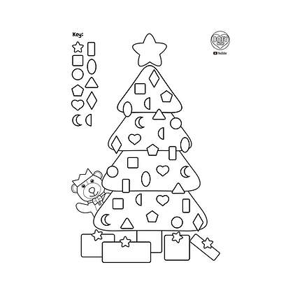 BOEY Bear YouTube Learn Shapes Christmas