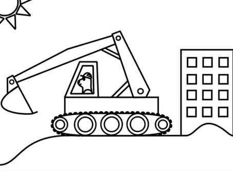 Construction Vehicles Colouring Pages!