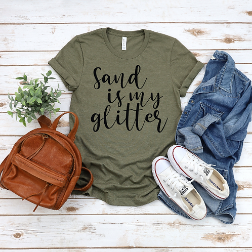 Sand Is My Glitter T Shirt / Ocean / Conservation / Earth / World / Trees