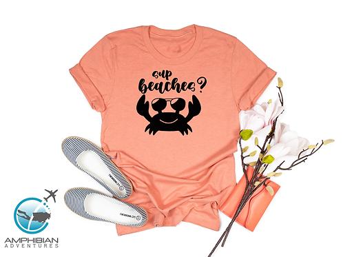 Sup Beaches T-Shirt / Crab / Ocean / Beach /  Conservation