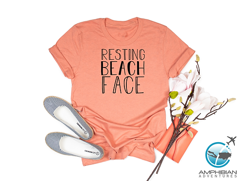 Resting Beach Face T-Shirt / Ocean / Sand / Conservation