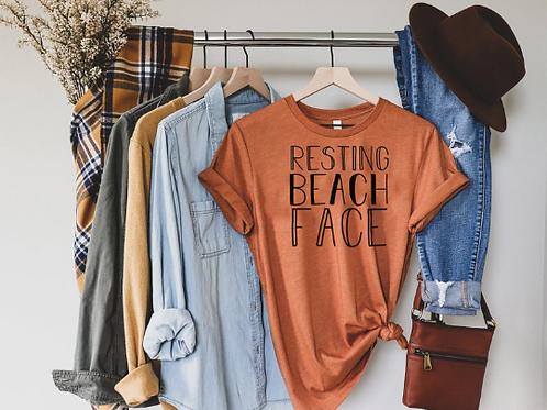 Resting Beach Face T-Shirt / Ocean / Sand / Conservation