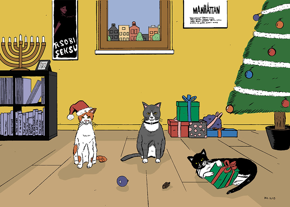 Meow-rry Chrismukkah!