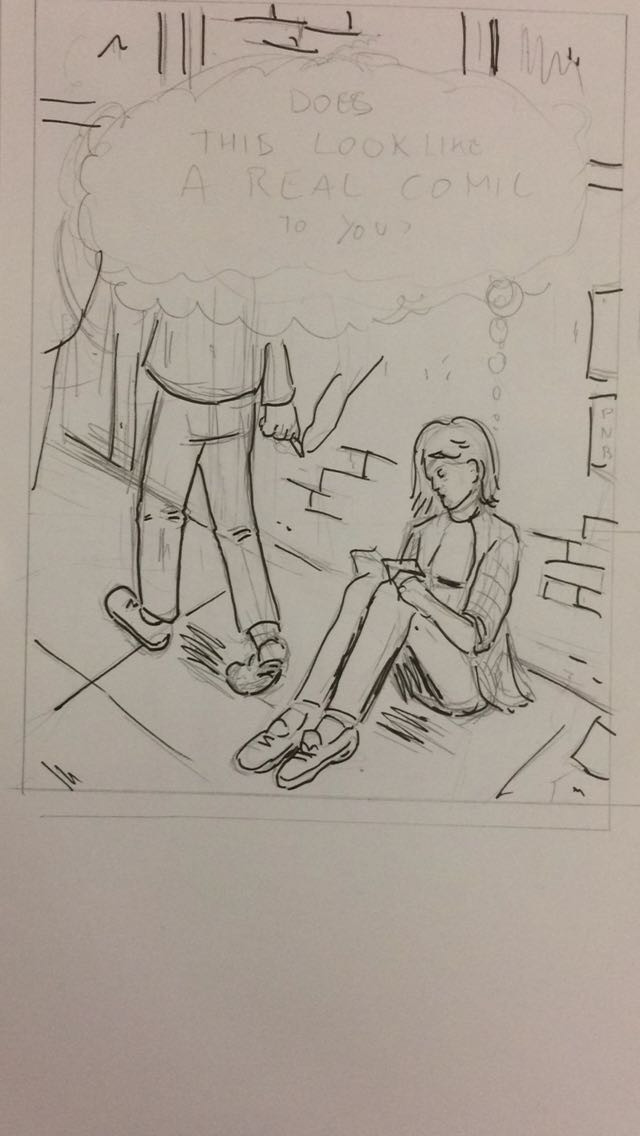 Initial sketch for the cover.