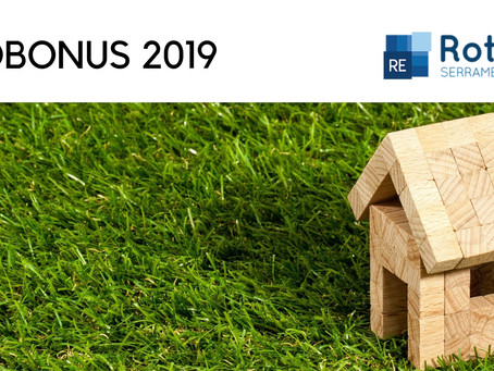 L'ECOBONUS SI RINNOVA PER IL 2019!