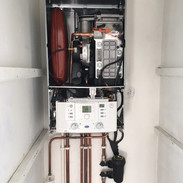 Worcester boiler ready for commissioning.