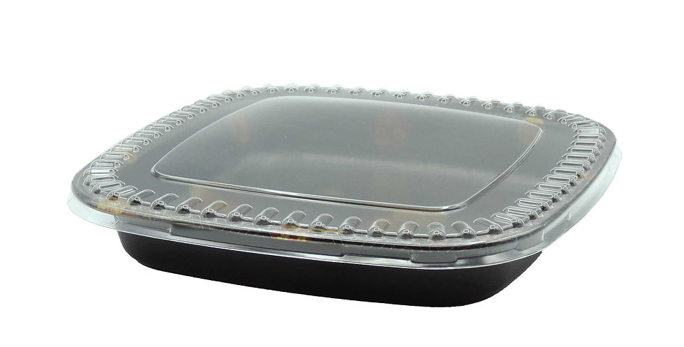 WE 200S Square Party Tray w. Lid 120/Case
