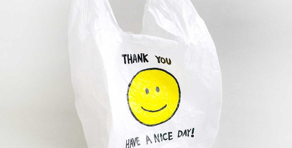 Smiley Plastic Bag (various sizes)