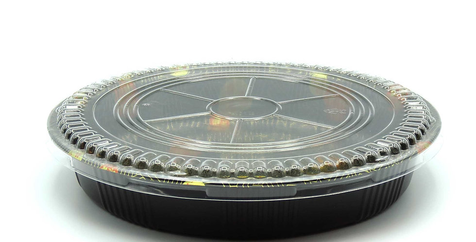 WE 61R Round Printed Party Tray w. Lid 120/Case