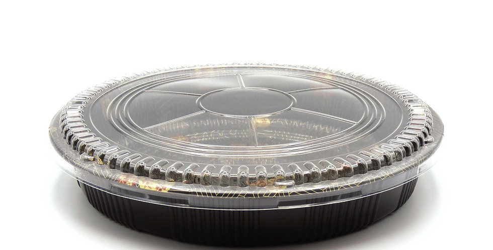 WE 63R Round Printed Party Tray w. Lid 60/Case