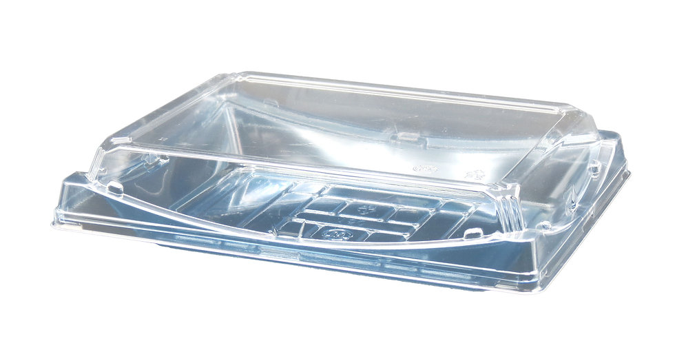 WE 130 Transparent Sushi Tray w. Lid 360/Case